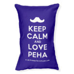[Moustache] keep calm and love peha  Dog beds small dog bed