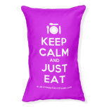[Cutlery and plate] keep calm and just eat  Dog beds small dog bed