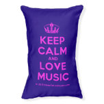 [Dancing crown] keep calm and love music  Dog beds small dog bed