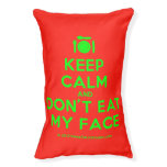 [Cutlery and plate] keep calm and don't eat my face  Dog beds small dog bed