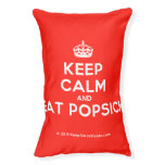 [Crown] keep calm and eat popsick  Dog beds small dog bed