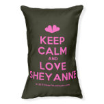 [Two hearts] keep calm and love sheyanne  Dog beds small dog bed