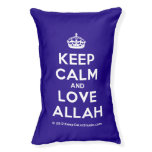 [Crown] keep calm and love allah  Dog beds small dog bed