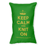 [Knitting crown] keep calm and knit on  Dog beds small dog bed