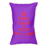 [Crown] keep calm and love nicky longo  Dog beds small dog bed
