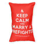 [Campfire] keep calm and marry a firefighter  Dog beds small dog bed