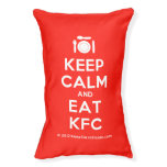 [Cutlery and plate] keep calm and eat kfc  Dog beds small dog bed