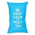 [Crown] keep calm and pray on  Dog beds small dog bed