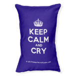 [Crown] keep calm and cry  Dog beds small dog bed