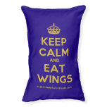 [Crown] keep calm and eat wings  Dog beds small dog bed