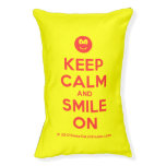 [Smile] keep calm and smile on  Dog beds small dog bed