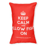 [Crown] keep calm and pillow fight on  Dog beds small dog bed