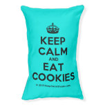 [Crown] keep calm and eat cookies  Dog beds small dog bed