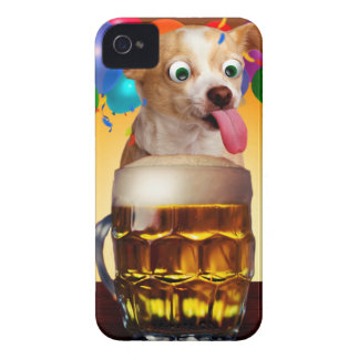 dog beer-funny dog-crazy dog-cute dog-pet dog Case-Mate iPhone 4 case