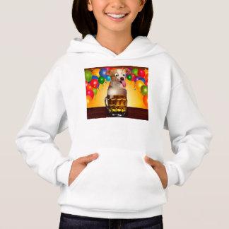 dog beer-funny dog-crazy dog-cute dog-pet dog hoodie