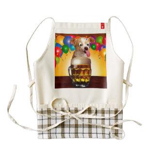 dog beer-funny dog-crazy dog-cute dog-pet dog zazzle HEART apron