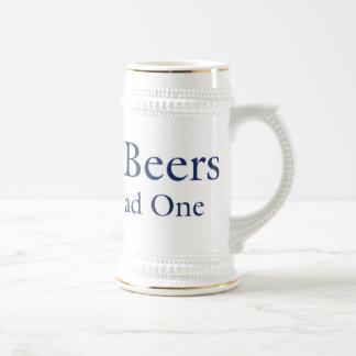 Dog Beers Stein 18 Oz Beer Stein