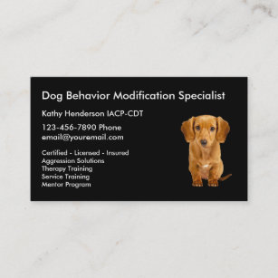 Dog training business cards templates zazzle dog behavior training business card colourmoves