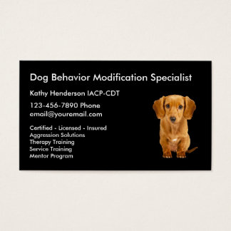 Dog Behavior Training Business Card