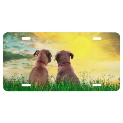 Dog best friends forever license plate