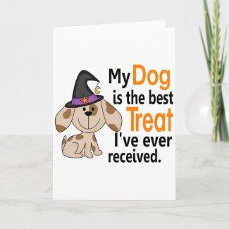 Dog Best Treat Halloween card