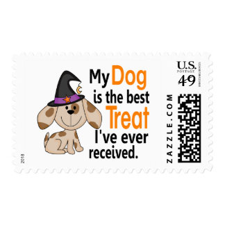 Dog Best Treat Halloween Postage Stamps