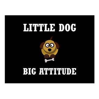Dog Big Attitude Postcard