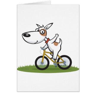 Dog Biker Card
