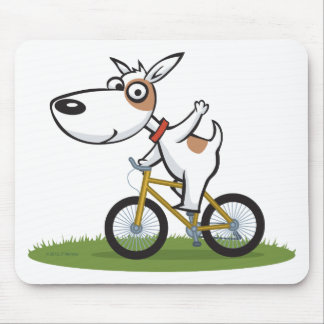 Dog Biker Mouse Pad