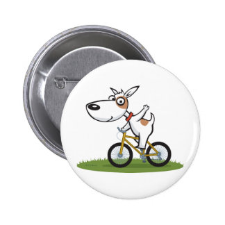 Dog Biker Pinback Button