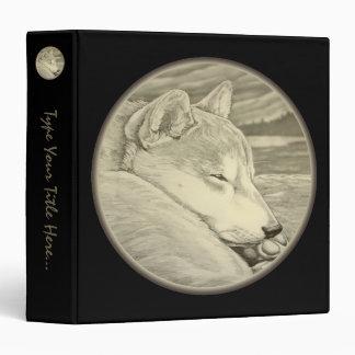 Dog Binder Custom Shiba Inu Dog Photo Album Binder