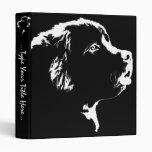 Dog Binder Newfoundland Dog Art Photo Albums 3 Ring Binder