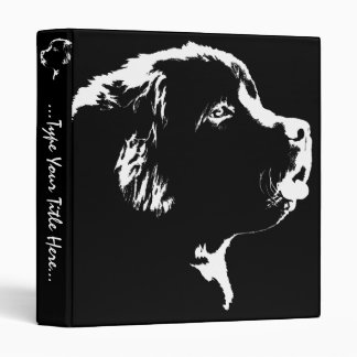 Dog Binder Newfoundland Dog Art Photo Albums
