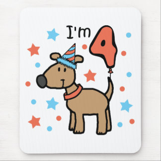 Dog Birthday Four Mouse Pad