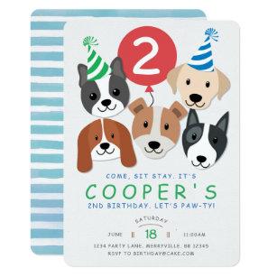 Dog birthday invitations announcements zazzle dog birthday invitation filmwisefo Gallery