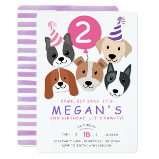 Dog Birthday Invitation