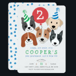 "Dog Birthday Invitation<br><div class=""desc"">Come celebrate with man"