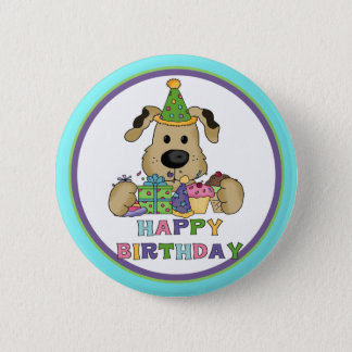 Dog Birthday Pinback Button