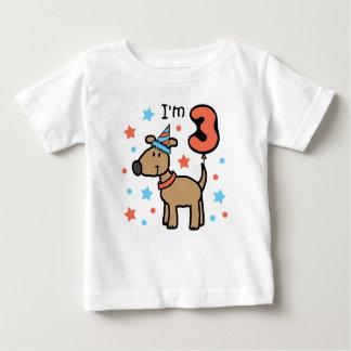 Dog Birthday Three Baby T-Shirt