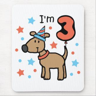 Dog Birthday Three Mouse Pad