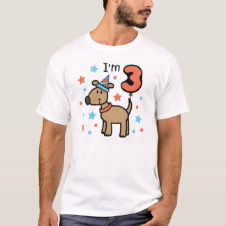 Dog Birthday Three T-Shirt