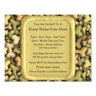 Dog Biscuits 4.25x5.5 Paper Invitation Card