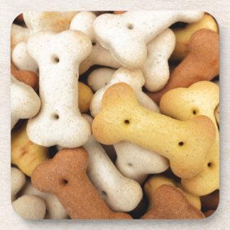 Dog biscuits beverage coaster