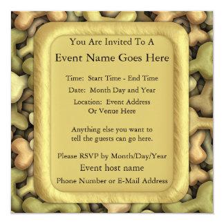 Dog Biscuits Invitation