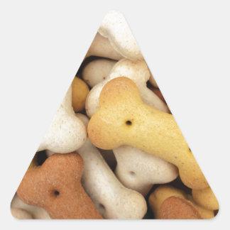 Dog biscuits triangle sticker