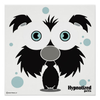 "Dog Black 20"" x 20"", Poster Paper (Semi-Gloss)"