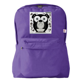 Dog(Black) Backpack, Amethyst American Apparel™ Backpack