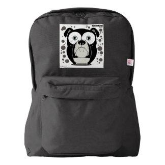 Dog(Black) Backpack, Black American Apparel™ Backpack