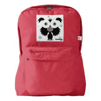 Dog(Black) Backpack, Red American Apparel™ Backpack