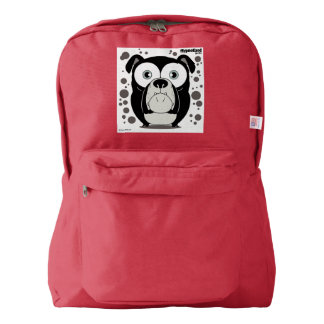 Dog(Black) Backpack, Red Backpack